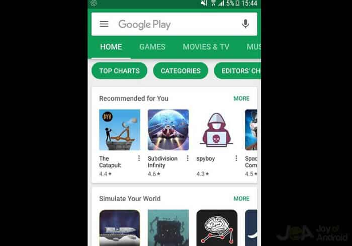 Latest Google Play Version