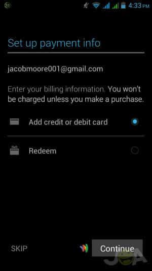 Setup Payment Information