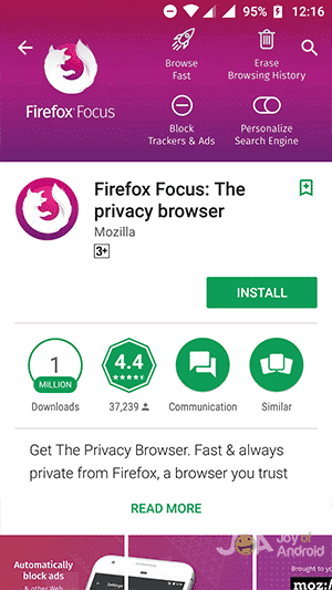 Firefox Focus Privacy Browser