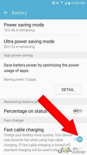 enabling fast charging
