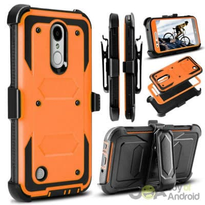 Jwest Full-Body Rugged Belt Clip Holster Case without Built-in Screen Protector