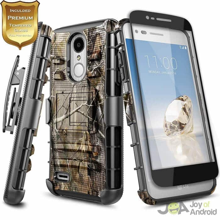 lg aristo 2 phone case with tempered glassscreen protector nagebee