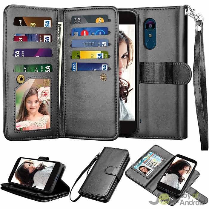 lg aristo 2 wallet case njjex