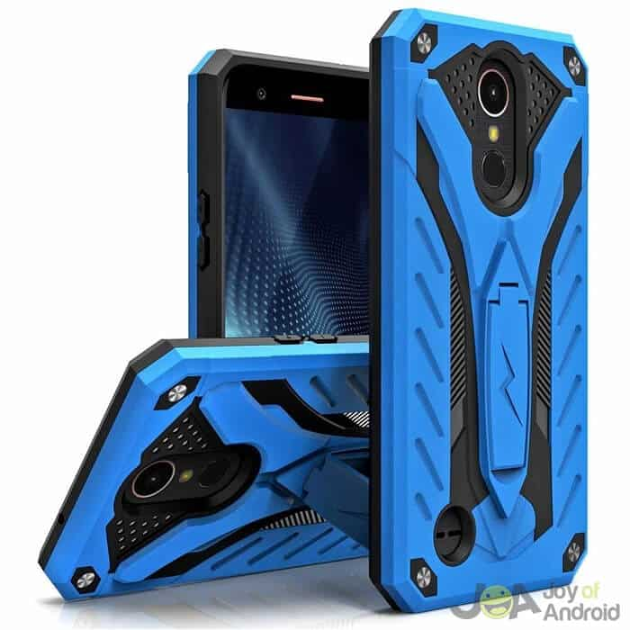 lg k20 plus phone case with kickstand zizo