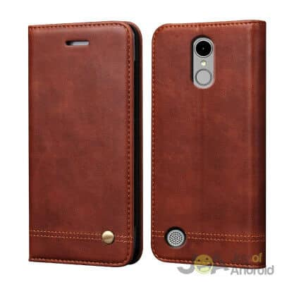 RUIHUI Flip Leather Protective Wallet Cover Case with Card Slots, Kickstand and Magnetic Closure