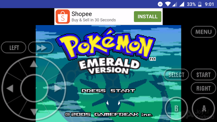 Emulator for GBA 2 Pokemon Emerald