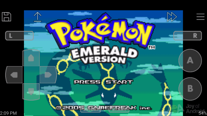 John GBA Lite Emulator Pokemon Emerald