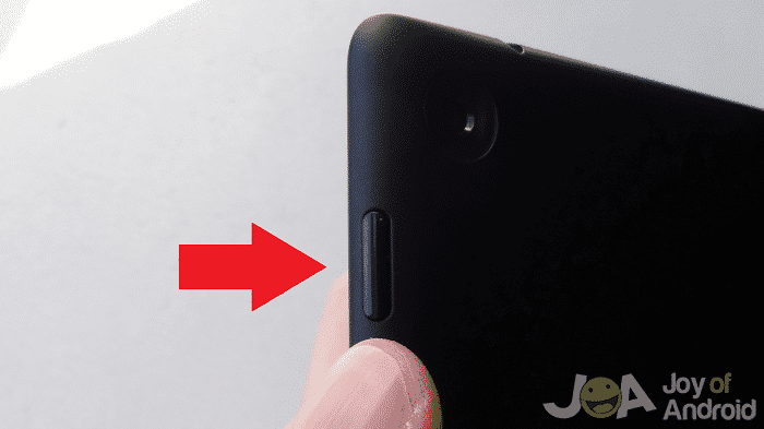 Press and hold power button