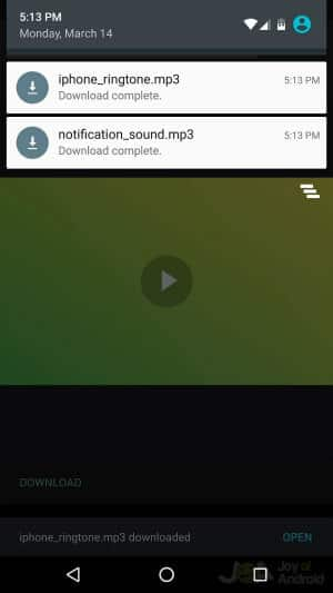Download Notification