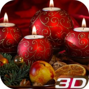 Christmas Candle 3D Wallpaper