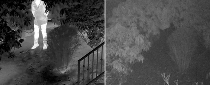 Thermal imaging camera for detecting hiding suspects