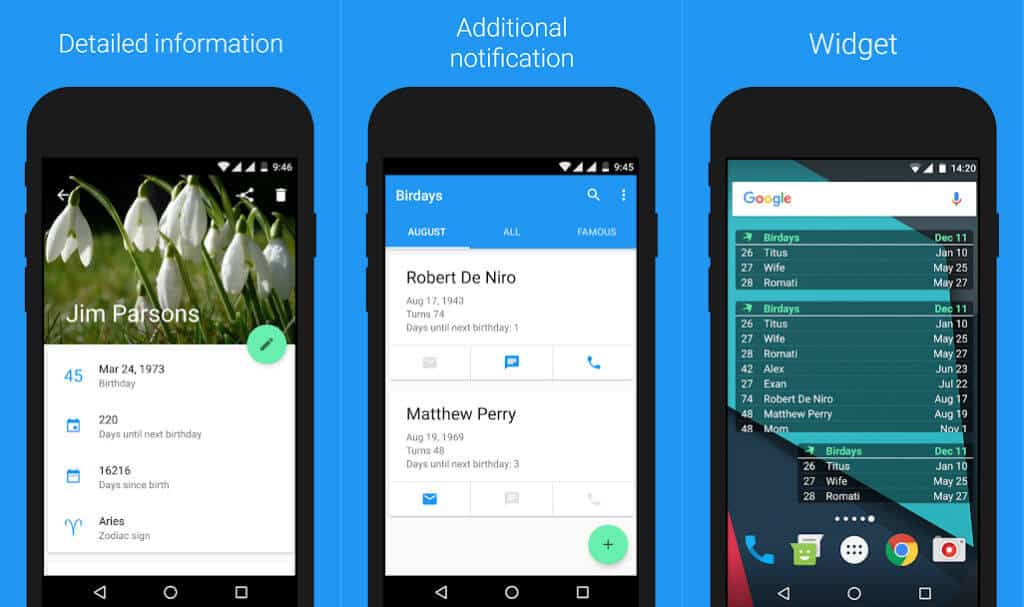 Birdays Is A Modern Birthday Reminder App For Android Users