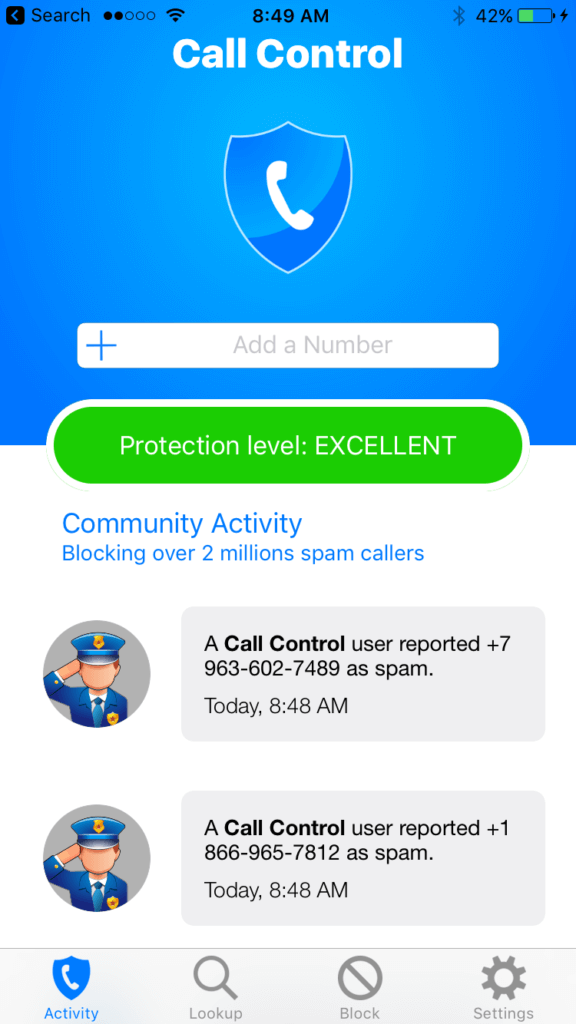 call control app