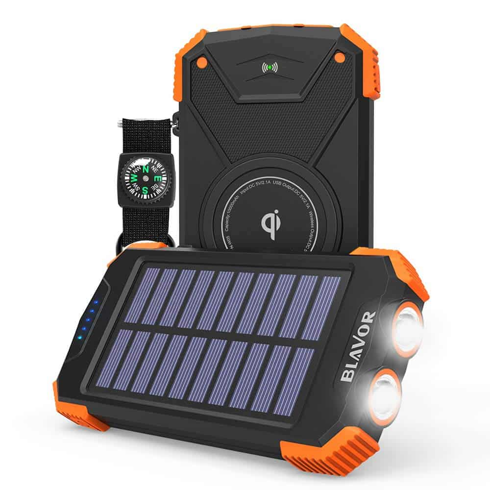 BLAVOR Qi 10000mAh Portable Solar Charger Power Bank