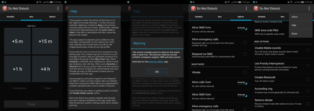 Do Not Disturb App Free User Interface