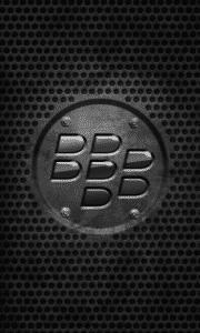 Black color BlackBerry logo embedded