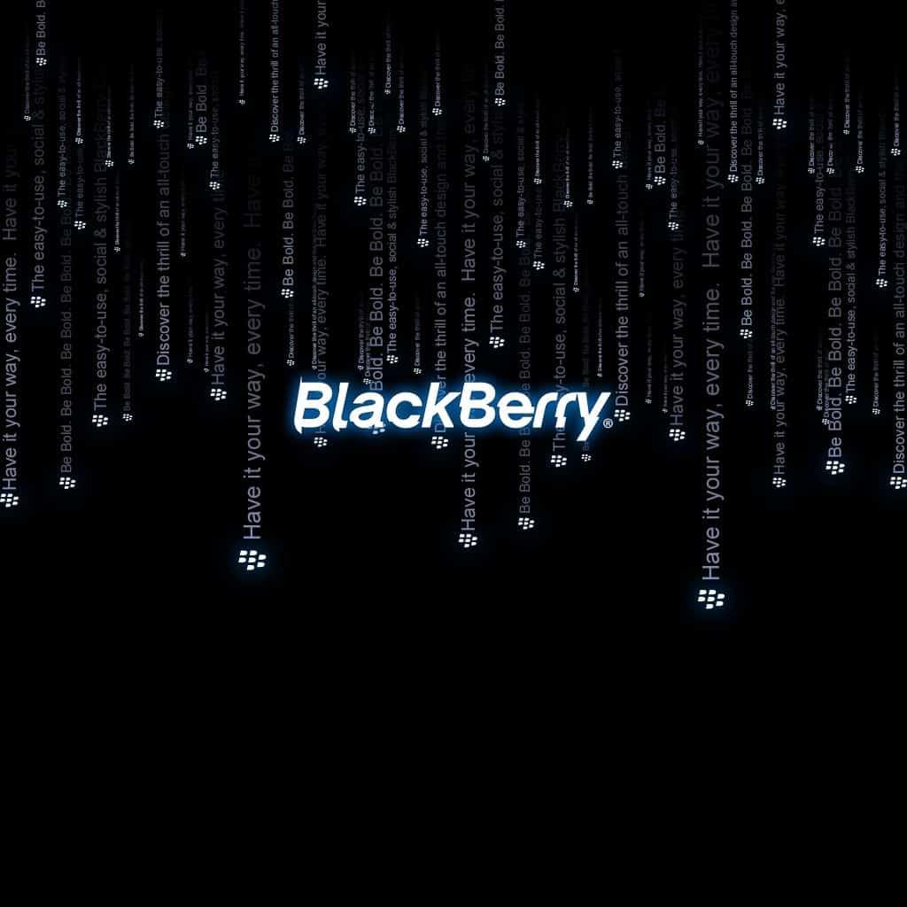 BlackBerry Matrix Themed Wallpaper in Black background