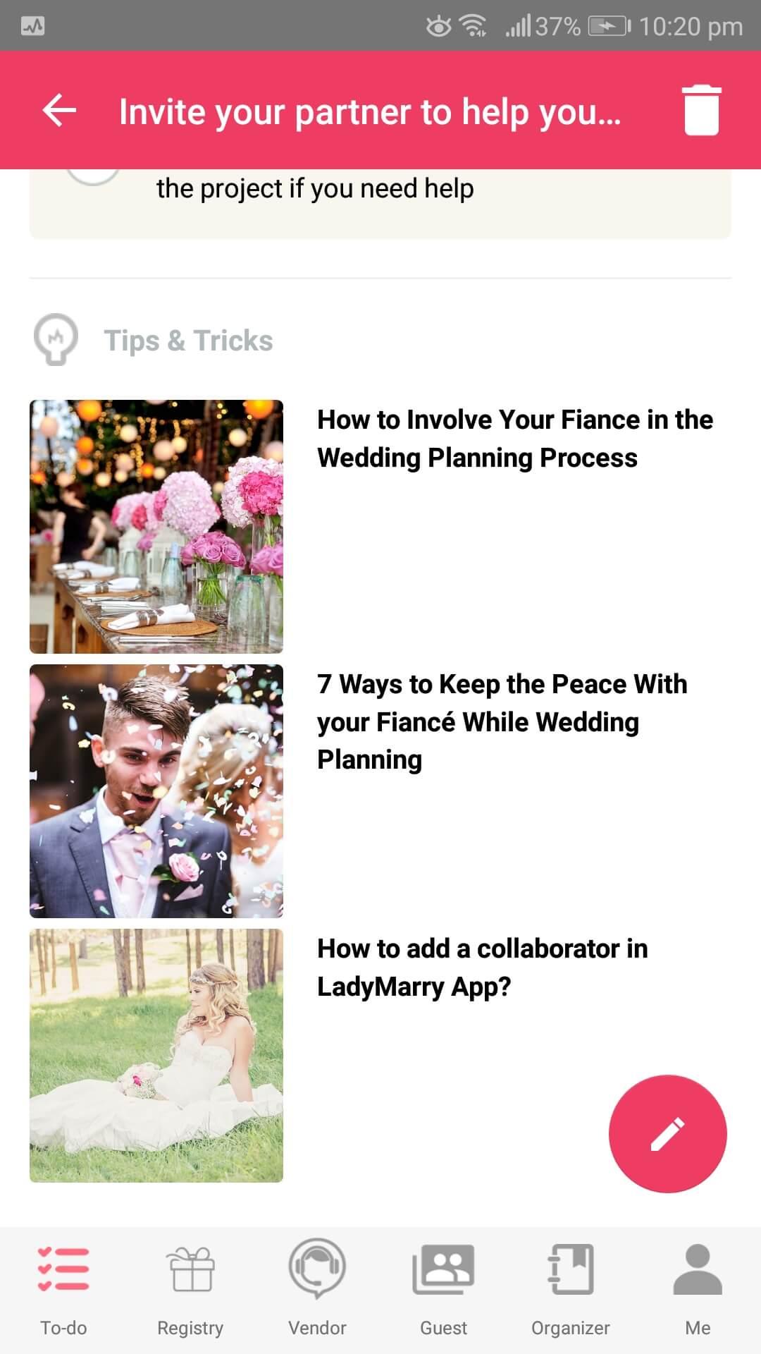 LadyMarry Wedding Planner Wedding Checklist, LadyMarry Wedding App