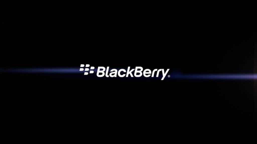 BlackBerry Logo in black background