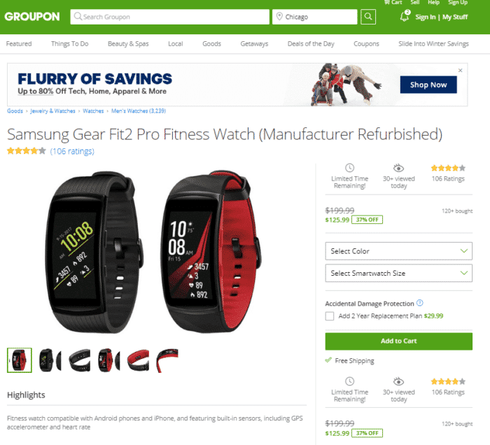 groupon refurbished android watch