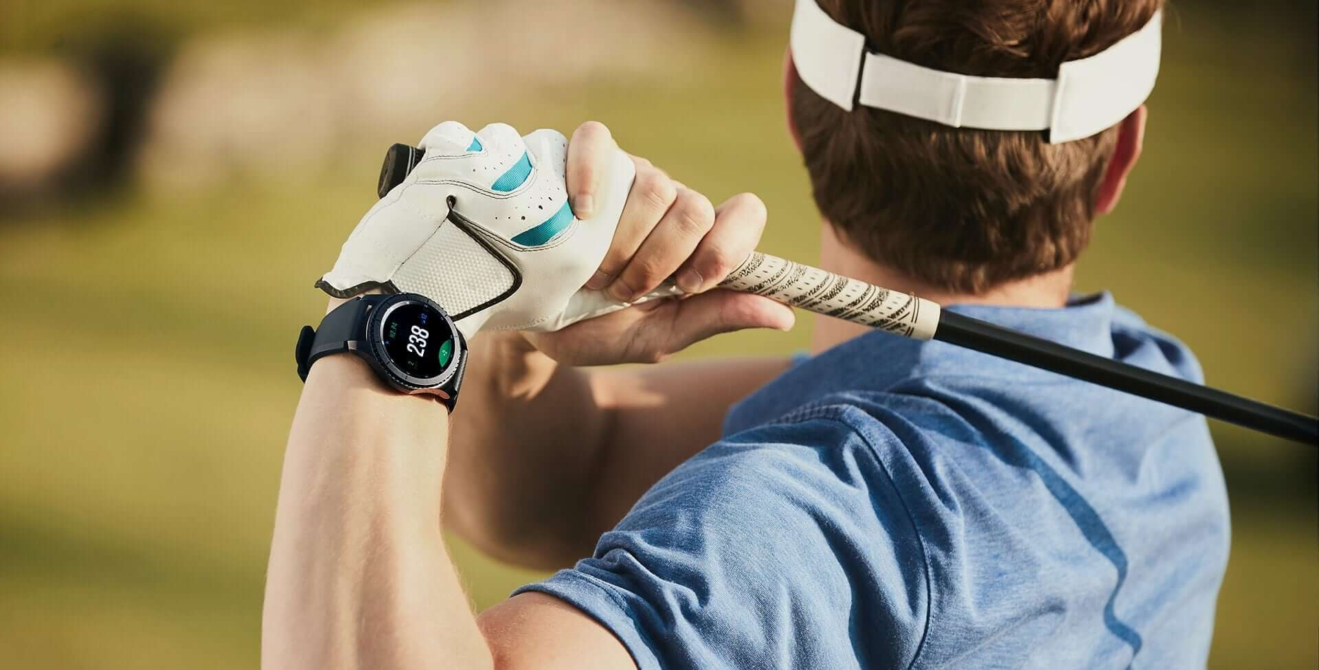 Samsung Gear S3 Smartwatch Golf Swing Club Sunny