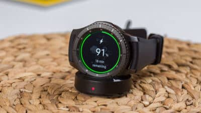 a samsung gear s3 charging at 91%