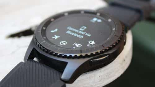a samsung gear s3 connected via bluetooth