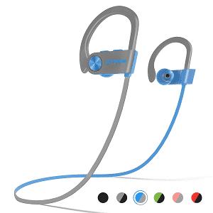 LETSCOM Bluetooth Headphones IPX7 Waterproof, Wireless Sport Earphones Bluetooth 4.1, HiFi Bass Stereo Sweatproof Earbuds w/Mic, Noise Cancelling Headset