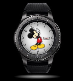 a watch with mickey mouse in the middle