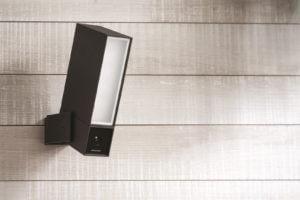 A light fixture security camera