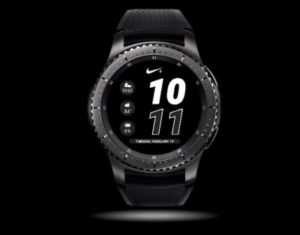 a black and white digital watch face