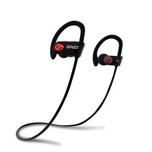 SENSO Bluetooth Headphones, Best Wireless Sports Earphones w/Mic IPX7 Waterproof HD Stereo Sweatproof Earbuds for Gym Running Workout