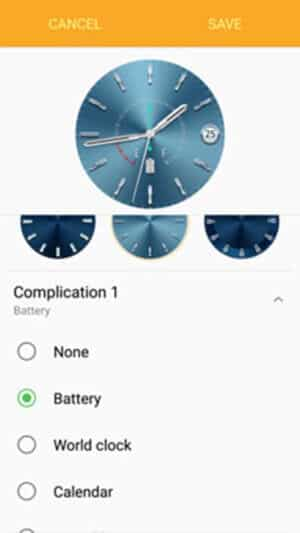 Complication 1 Customization of Watch Faces