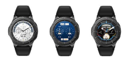 three samsung gear s3 watch faces