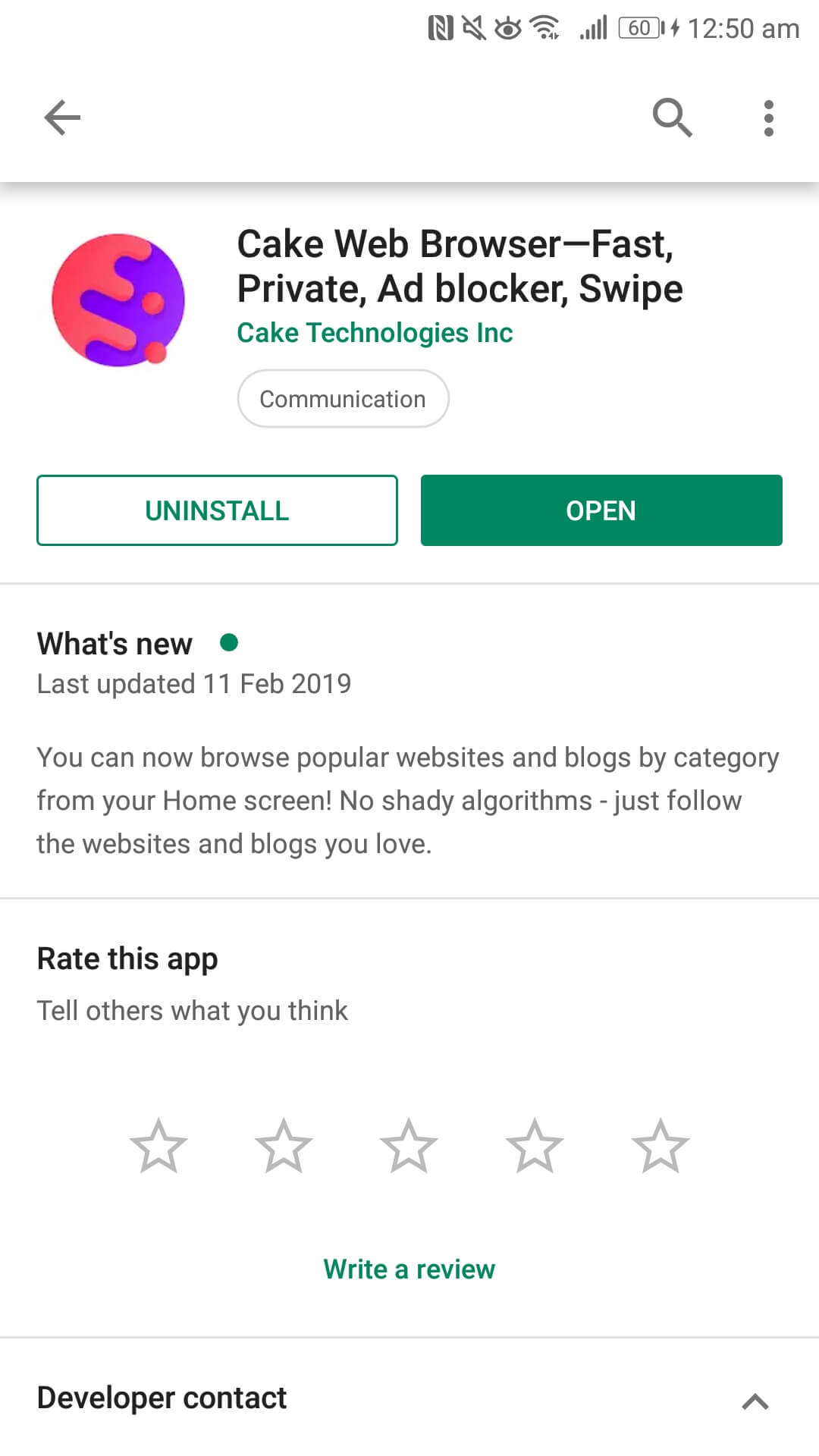 Cake Web Browser—Fast, Private, Ad blocker, Swipe Cake Technologies Inc