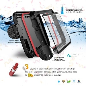 ASAKUKI Galaxy S8 Plus Waterproof Case - IP68 Certified Case, Full Body Protective, Shockproof, Scratch-Proof, Dustproof Case with Built-in Screen Protector