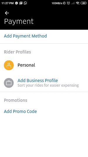 Add promo code