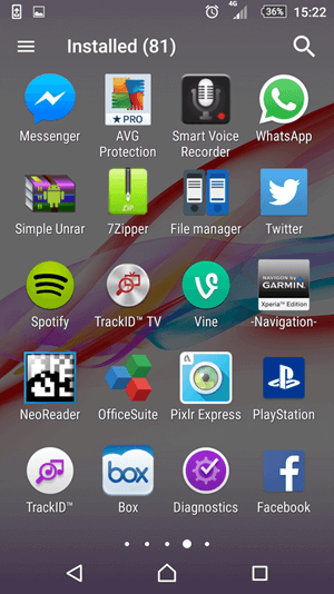 App drawer in Home Screen