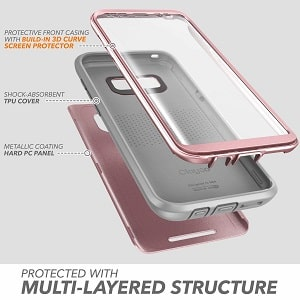 Clayco [Hera Series] Full-body Rugged Case with Built-in Screen Protector