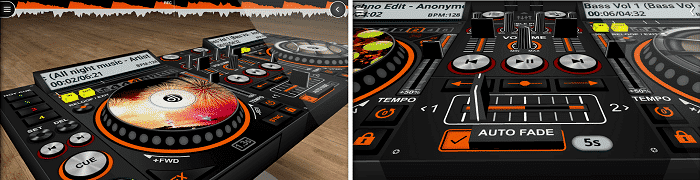 DiscDJ 3D User Interface