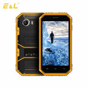 black and yellow E&L W6S smartphone