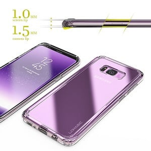 Galaxy S8 Plus Case,Clear Slim Hybrid Armor Perfect Fit Hard Anti-Scratch Excellent Grip Flexible Tpu Non Slip Non Bulky 360 Full Body Shockproof Protective