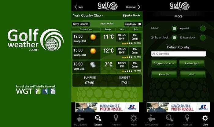 Golf Weather User Interface