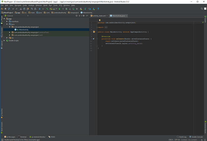 MainActivity - What is Android Studio