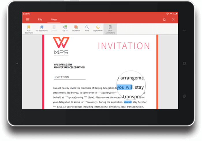 WPS Office - PDF Viewer App