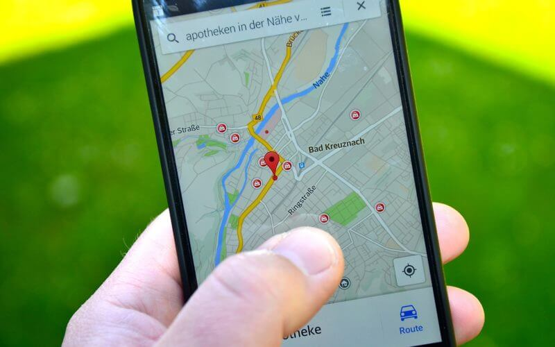 Smartphone Tracking App Map