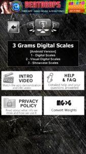 3 Grams Digital Scale App & Weight Converter