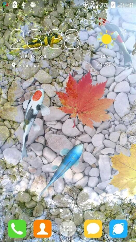 Water Live Wallpaper koi Fish