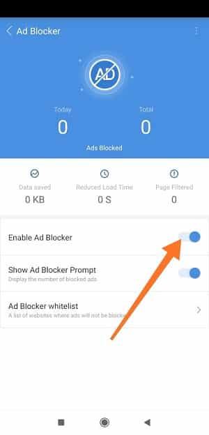 Cm Browser Ad Blocker enabledCm Browser Ad Blocker enabled