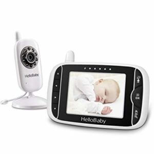 a video baby monitor and a parent unit